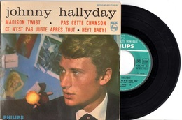 EP JOHNNY HALLYDAY - 1962 PHILIPS 432799 - MADISON TWIST + 3 - ETAT PROCHE DU NEUF-LANGUETTE- POCHETTE PEU COMMUNE - - Rock