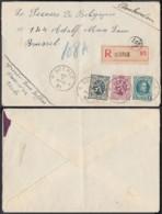 """Belgique 1931 COB 257+279+284 Sur Lettre  Recommandée Obl Relais """"veerle"""" Vers Bruxelles (EB) DC6324 - 1922-1927 Houyoux"""
