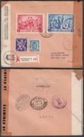 Belgique 1945 COB 426+679A+697/8 Sur Lettre Recommandée Vers New York De Bruxelles. Censurée...   (EB) DC6326 - Andere