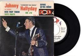 FRENCH EP JOHNNY HALLYDAY - 1967 - TUTTI FRUTTI + 3 - EN CONCERT LIVE - TRES BON ETAT - VOIR DESCRIPTION - - Rock