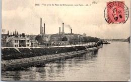 92 BILLANCOURT - Vue Prise Depuis Le Pont Vers Paris - Boulogne Billancourt