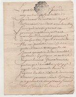 Rochecorbon  Tours Vente Au Seigneur De Bois Teileuil 1730 - Manuscripts