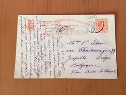 Danemark Entier Postal Transit Hambourg Pour Belgique - 1913-47 (Christian X)