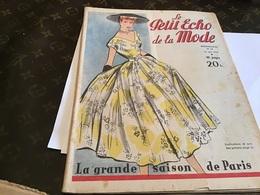 Le Petit écho De La Mode 1953  La Grande Saison De Paris Quarante Pages - Moda