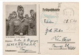 """III. Reich, Feldpostkarte """" In Der Heimat - In Der Heimat..."""" Bad Reichenhall - Wien - Allemagne"""