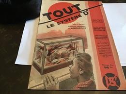 Tout Le Système D 1947 Comment Construire  Un Aquarium - Bricolage / Tecnica