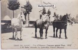Carte Photo Dept 53 - Vimarcé - Trait Du Maine - Prix D'honneur Concours Général Paris 1932 (voir Scan Recto-verso) - Otros Municipios