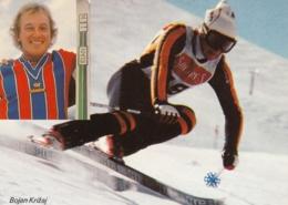 Bojan Križaj Skiing ELAN Advertising Postcard - Slowenien