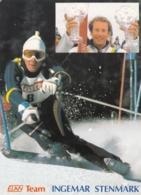 Ingemar Stenmark Skiing ELAN Advertising Postcard - Slowenien