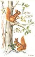 Format 8.5/13.5  -  Bonne Année - Paysage Ecureuil   Q 372 - Año Nuevo