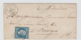 Gard  29 . AIGUESMORTES P.C 17 / Nap  + CàD Type 15 / LSC De 1862 - Storia Postale