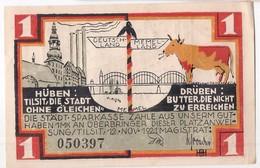Deutschland Notgeld 1 Mark Mehl1324.1 TILSIT /52M/ - [11] Lokale Uitgaven
