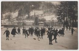 Carte Photo SWITZERLAND THUN THOUNE Patin à Glace Patinage Cachet Ambulant N° 15 Envoyée à CERNIER - BE Berne
