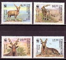 Markhor WWF Uzbekistan MNH 4 Stamps 1995 - W.W.F.