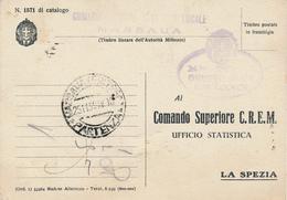 1939 ERITREA MASSAUA COMANDO NAVI USO LOCALE RIMORCHIATORE ARDENTE - Correo Militar (PM)