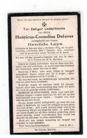 DP Henricus-Cornelius Defever Geb. Stavele 1854,echtgen.v.Renilde Leys Gestorven 1931 - Religion & Esotérisme