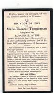 DP Marie-Thérèse Temperman Geb. Stavele 1856,echtgen.v. EDMOND DELATTRE Gestorven 1930 - Religion & Esotérisme