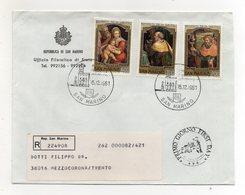 San Marino - 1981 - Busta FDC - Natale - Con Triplo Annullo - Viaggiata Con Raccomandata - (FDC19441) - FDC