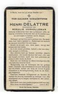 DP HENRI DELATTRE Geb.Beveren-Ijzer 1855,echtgen.v. Rosalie VERHOLLEMAN Gestorven Stavele 1929 - Religion & Esotérisme