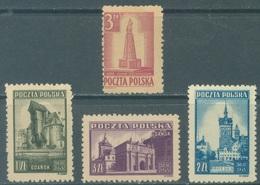 POLAND - MLH/* - 1945 -  MONUMENTS GDANSK KOSCIUZKO -  Yv 448 450-452 Mi 404 410-412 - Lot 21169 - 1944-.... Republic
