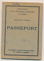 MAROC / ESPAGNE - Passeport Du Gouvernement Chérifien 1955 - Visas Consulat D'Espagne à RABAT - Documents Historiques