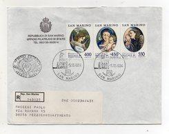 San Marino - 1984 - Busta FDC - Natale - Con Quadruplo Annullo - Viaggiata Con Raccomandata - (FDC19442) - FDC