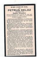 DP PETRUS DELOZ Geb.Beveren-Ijzer 1855,echtgen.v. Sophie Delaplace, Gestorven  1929 - Religion & Esotérisme