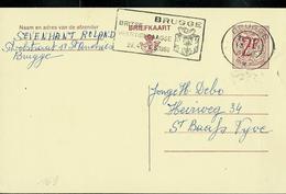 Carte Obl. N° 169. IV.N.   Obl. Brugge 1968 + (belle Flamme De Brugge Avec Cadeau) - Enteros Postales