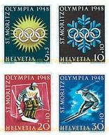 Ref. 239487 * HINGED * - SWITZERLAND. 1948. V OLYMPIC WINTER GAMES. SAINT MORITZ 1948 . 5 JUEGOS OLIMPICOS INVIERNO SAN - Nuovi