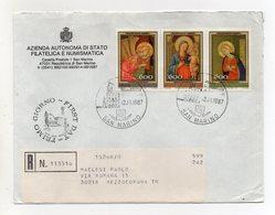 San Marino - 1987 - Busta FDC - Natale - Con Quadruplo Annullo - Viaggiata Con Raccomandata - (FDC19443) - FDC