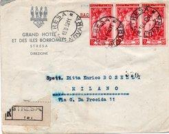 STORIA POSTALE - REPUBBLICA - AFFRANCATURA SU BUSTA - 6 - 6. 1946-.. Repubblica
