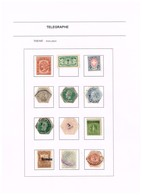 Lot Timbres Téléphone & Télégraphe Mixte Tous Pays. Old Collection Ancienne Collection. RR - Telegraph And Telephone