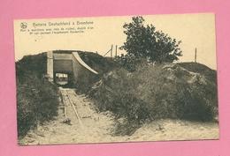 C.P. Bredene =  Oorlog 1914-18 Batterie Deutschland :abri à Munitions Avec Voie Vicinal+ 3è Voie = écartement DECAUVILLE - Bredene