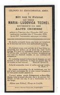 DP MARIA-LUDOVICA TECHEL Geb.Poperinge 1867,echtgen.v ALOIS CROMBEZ, Gestorven  1933 - Religion & Esotérisme