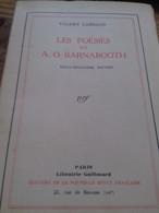 Les Poésies De A.O. BARNABOOTH VALERY LARBAUD Gallimard 1930 - Poetry