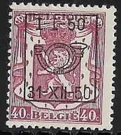 België  Typo Nr.  602 - Typo Precancels 1936-51 (Small Seal Of The State)