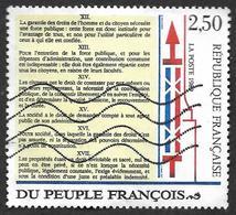 FRANCE  1989 -  Y&T  2605  -  Bicentenaire De La Déclaration Des Droits De L'homme   -   Oblitéré - France
