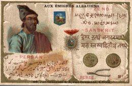 CHROMO AUX EMIGRES ALSACIENS LYON   PERSAN PERSE - Trade Cards