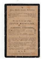 DP ZUSTER MECHTILDIS,in De Wereld CLEMENTINA SCHEUNDERS Geb Meerhout 1863, Gestorven  1894 - Religion & Esotérisme