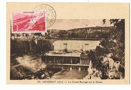 01 - GENISSIAT - Barrage, Carte Maximum  - 317 - Génissiat