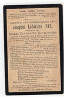 DP Josephus Ludovicus NYS, Geb.Meerhout 1864 Echtg.v  MARIA CATHARINA SCHEUNDERS , Gestorven Tessenderlo 1916 - Religion & Esotérisme