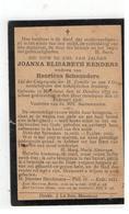 DP JOANNA ELISABETH RENDERS, Geb.Meerhout 1833, Wed.v Henricus SCHEUNDERS , Gestorven 1908 - Religion & Esotericism