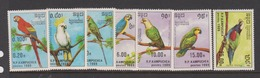 Cambodia Scott 789-95 1987 Capex Birds, Mint Never Hinged - Birds