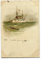CPA - Carte Postale - Bateaux - Croiseur Blindé - Amiral Charner Bruix - Latouche Treville Chanzy - 1901 ( I11274) - Guerra