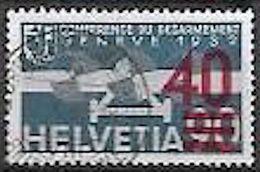 """Schweiz Suisse 1936: Aufdruck """"40="""" Zu Flug 24 Mi 293 Yv PA24 Mit Luxus-o ZÜRICH 29.X.37 FRAUMÜNSTER (Zu CHF 30.00) - Suiza"""