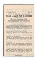 DP Armand Lodewijk VAN DEN BROECK, Geb.Keerbergen 1923,echtg V Joesphina GORIS Verongelukt Mijnramp Marcinelle 1956 - Religion & Esotérisme