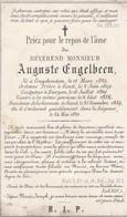 KRUISHOUTEM Bidprentje 1824-1870 Auguste Engelbeen - Religion & Esotérisme