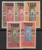 Togo - 1924-25 - N°Yv. 119 à 123 - Série Complète - Neuf * / MH VF - Nuevos