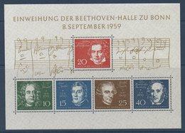 RFA 1959 Bloc Inauguration Opéra Beethoven De Bonn  BF N°YT 2 ** MNH - [7] Federal Republic