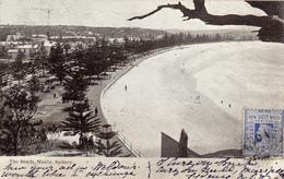 682/ The Beach, Manly, Sydney 1906, Op Achterzijde An Aboriginal - Sydney